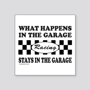 "AUTO RACING Square Sticker 3"" x 3"""